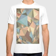 Renaissance Triangle Pyramids MEDIUM White Mens Fitted Tee