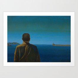 The Silent Man Art Print