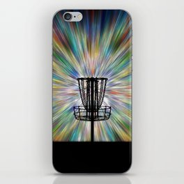 Disc Golf Basket Silhouette iPhone Skin