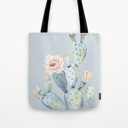 Prettiest Rose Cactus Blue Tote Bag