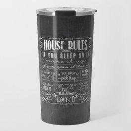 House Rules Retro Chalkboard Travel Mug