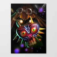 majoras mask Canvas Prints featuring Majoras Mask by Max Grecke