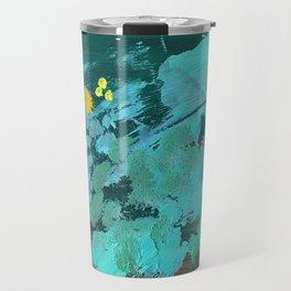 golden wattle oil painting Travel Mug