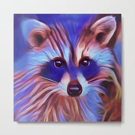 The Raccoon Bandit Metal Print
