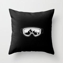 Winter Sports Art Work | Ski Snowboard Snowboarding Gifts Throw Pillow