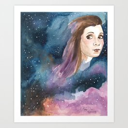 May the 4th Carrie Fisher tribute Art Print