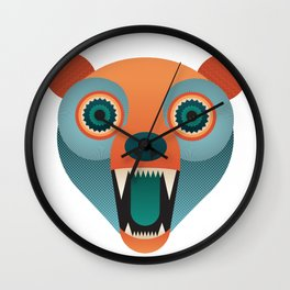 Geometric Bear Wall Clock
