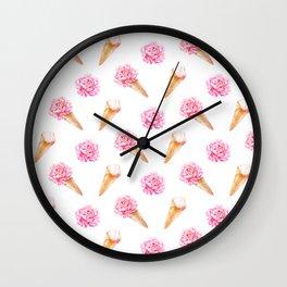 Floral Cones Wall Clock