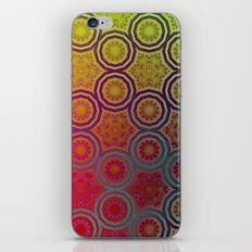 Pink, Purple, Yellow, and Orange Circles and Cogs iPhone & iPod Skin