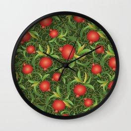 ripe pomegranate Wall Clock