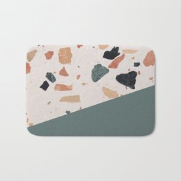 Terrazzo Texture Antique Green #1 Bath Mat