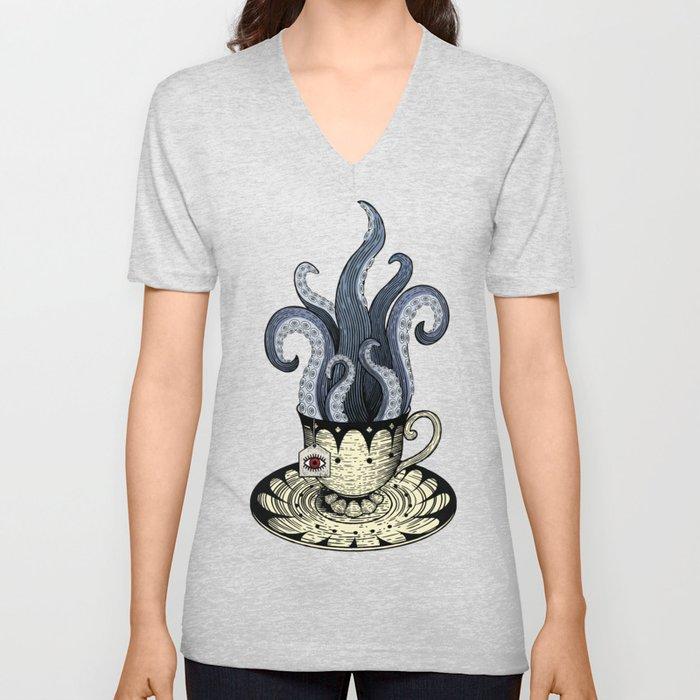 Kraken tea Unisex V-Ausschnitt