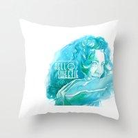 river song Throw Pillows featuring River Song by Erin Garey