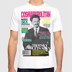 COSMARXPOLITAN, Issue 8 White Mens Fitted Tee MEDIUM