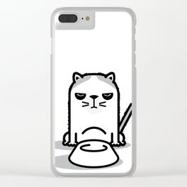 Mad Hungry Cat Clear iPhone Case