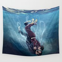 underwater Wall Tapestries featuring Underwater by MGNemesi