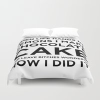 cake Duvet Covers featuring Cake by I Love Decor