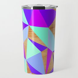 Wooden Geo Purple Travel Mug