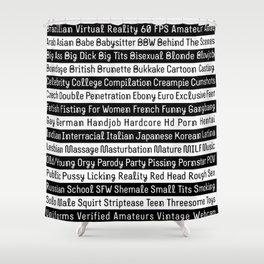 Pornhub tags Shower Curtain