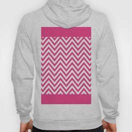 Hot Pink and White Chevron Hoody