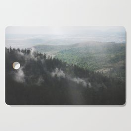 Clouds in the forest Cutting Board