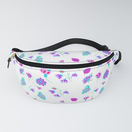ditsy flowers inspired by Persian tile/ ditsy flowers for fashion print Fanny Pack