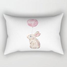 Rabbit Greetings Rectangular Pillow