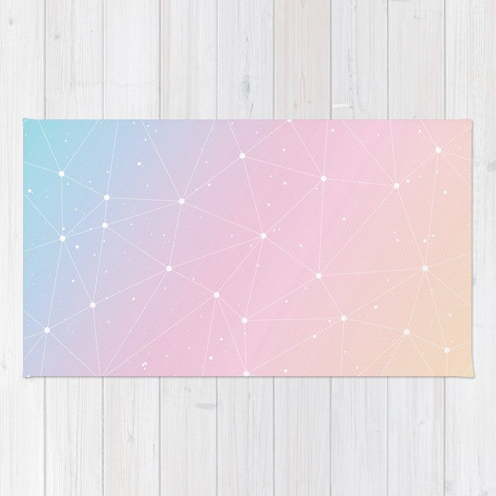 Rainbow Watercolor Astronomy Rug