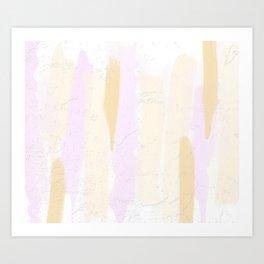 Pastel Pink and Brown Minimal Painting Art Print