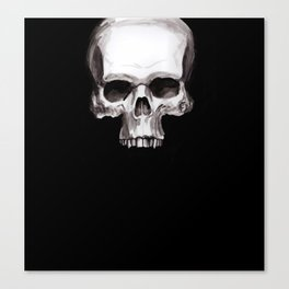 Skull on Black Canvas Print