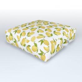 Watercolor lemon pattern Outdoor Floor Cushion