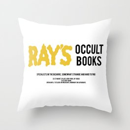 Ray's Occult Books Ghostbusters tribute Throw Pillow
