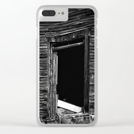 Old Abandonned house Clear iPhone Case