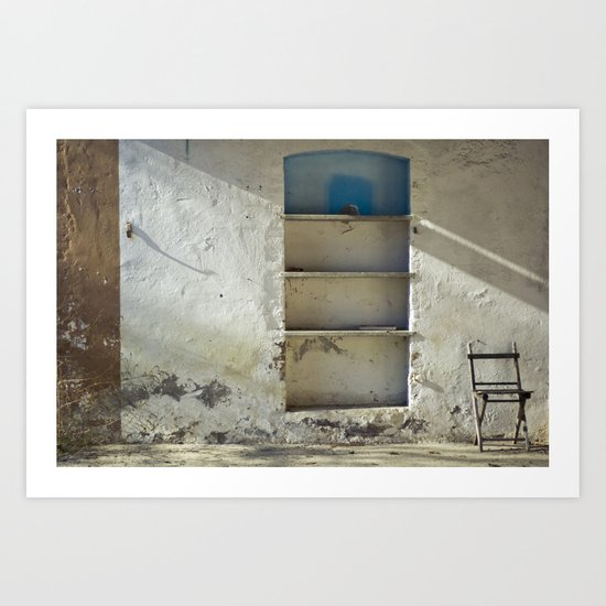 Lonely Chairs #2 Art Print