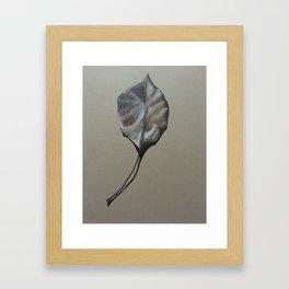 Zen Leaf Framed Art Print