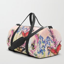 Wild meadow butterflies Duffle Bag