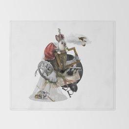 WE OWE AWE (Totem of the Rabbit) Throw Blanket