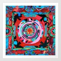Conch Shell Mandala Art Print