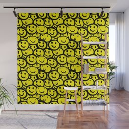 Smiley Face Yellow Wall Mural