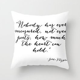 How much can the heart hold Throw Pillow