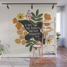 I Am No Bird Jane Eyre Quote Wall Mural