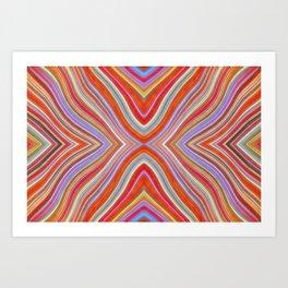 Wild Wavy X Lines 11 Art Print