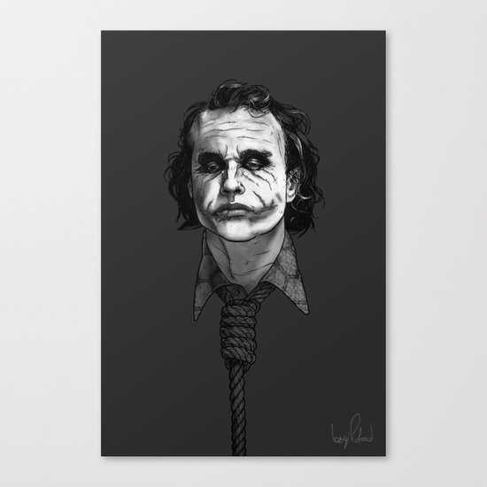 Now I'm Always Smiling // The Dark Knight Canvas Print