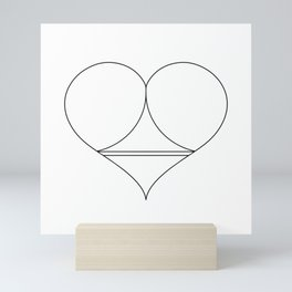 Butt Heart Mini Art Print