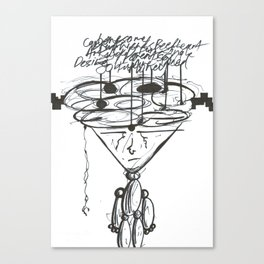 Thought Puppeteer WHT Canvas Print