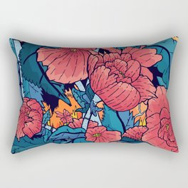 The Red Flowers Rectangular Pillow