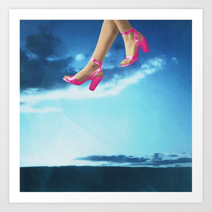 Walking on Air Art Print