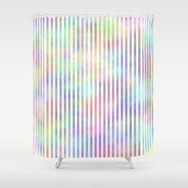 White Strips. Fashion Textures Shower Curtain