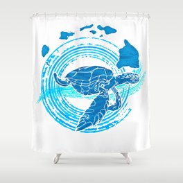 Watercolor Turtle Love Shower Curtain