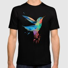 Humming bird Black Mens Fitted Tee X-LARGE